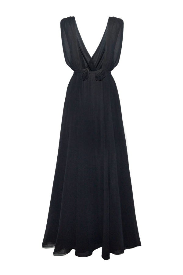 Vestidos gasa color negro Paula black dress