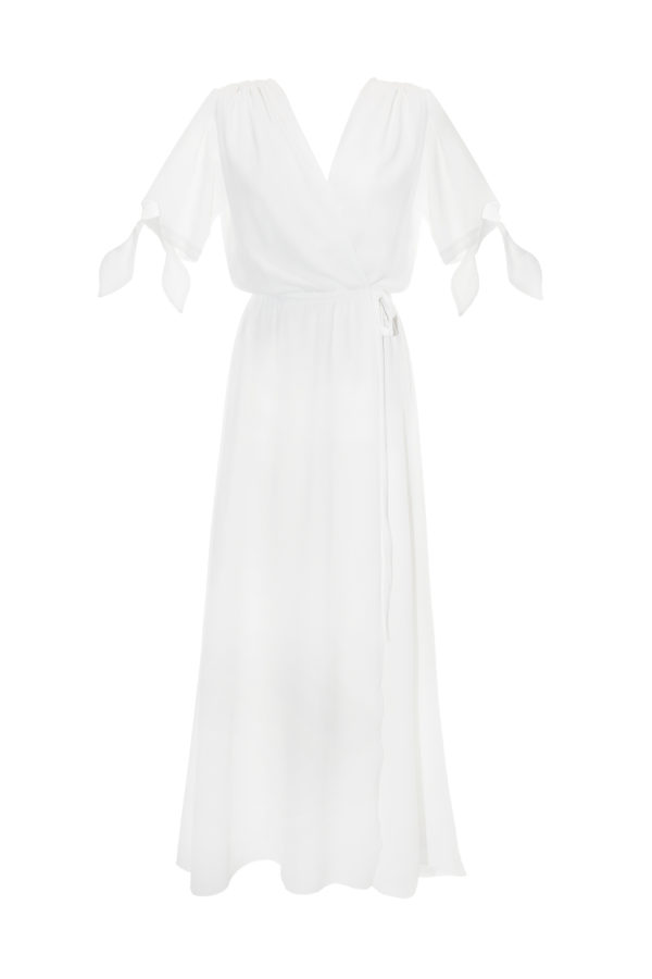 vestido gasa blanco Nana dress pure