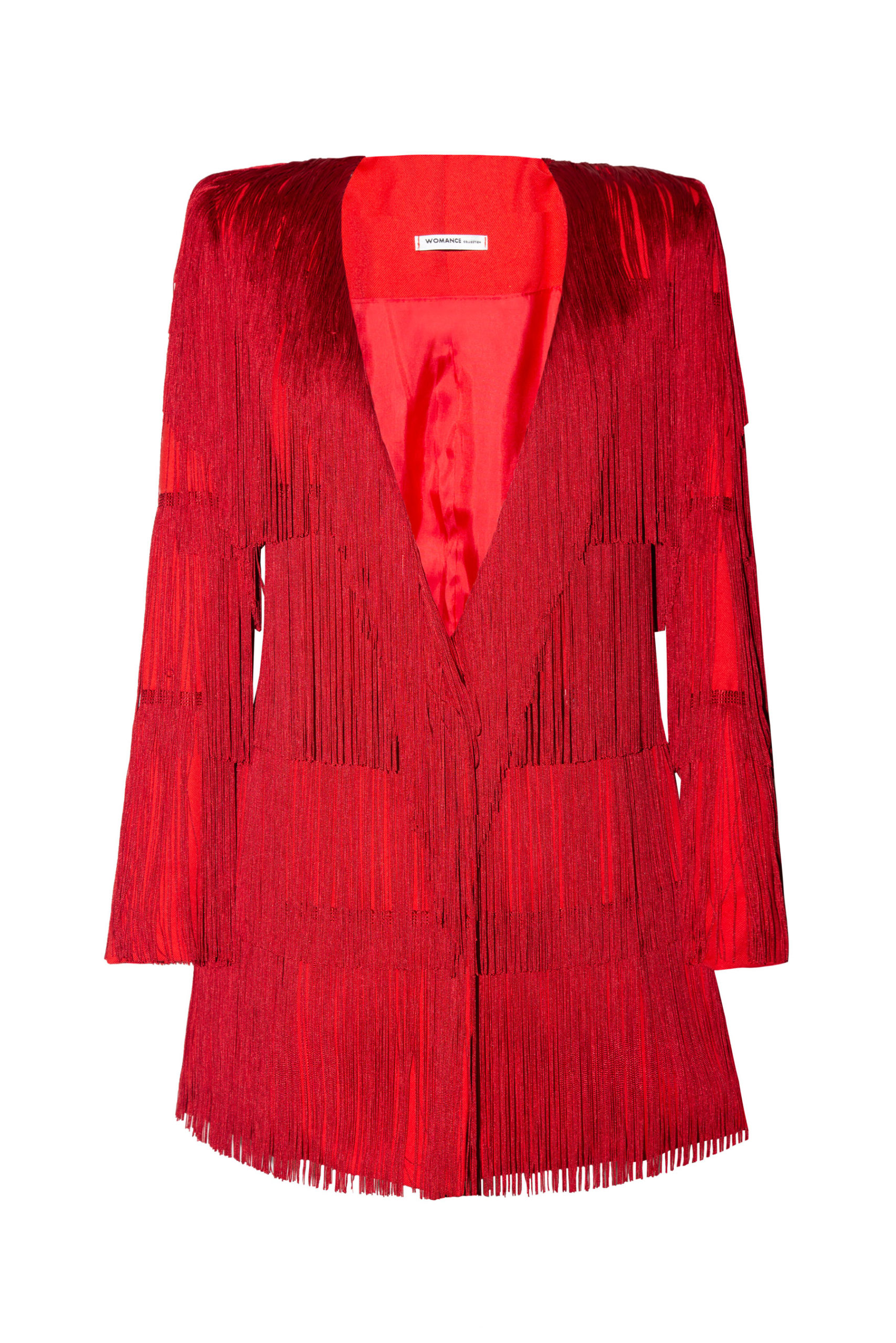 Smoking mujer rojo con flecos The Smoking red fringe