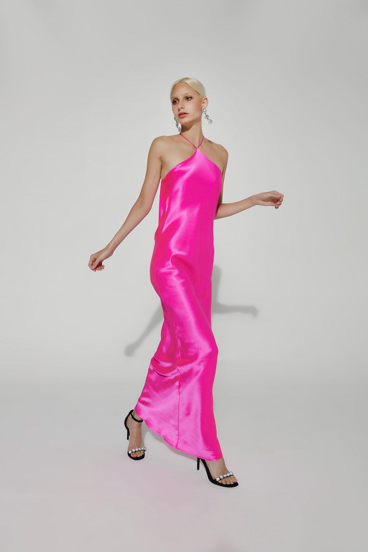 slipdress rosa flúor