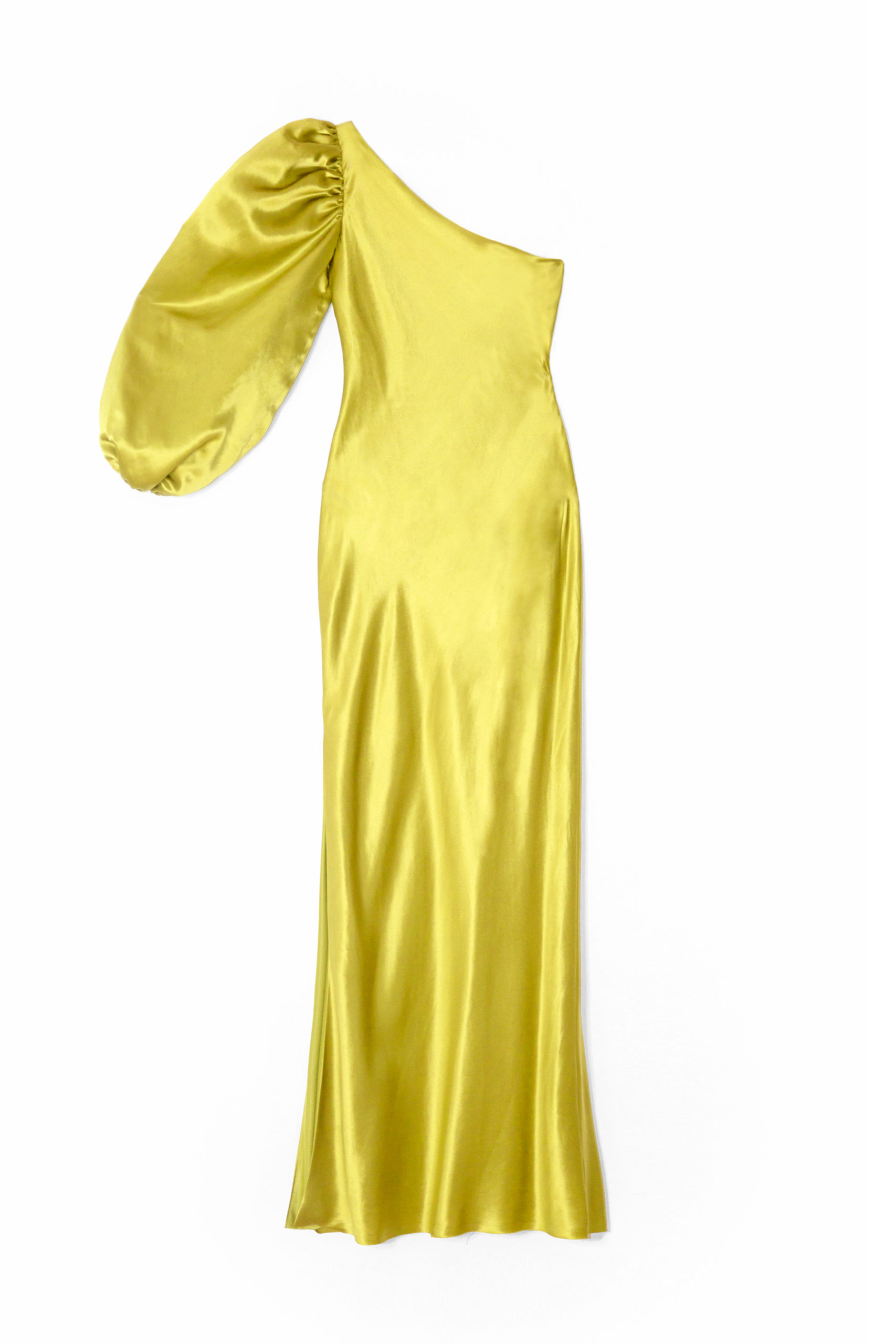 Simone yellow natural silk dress