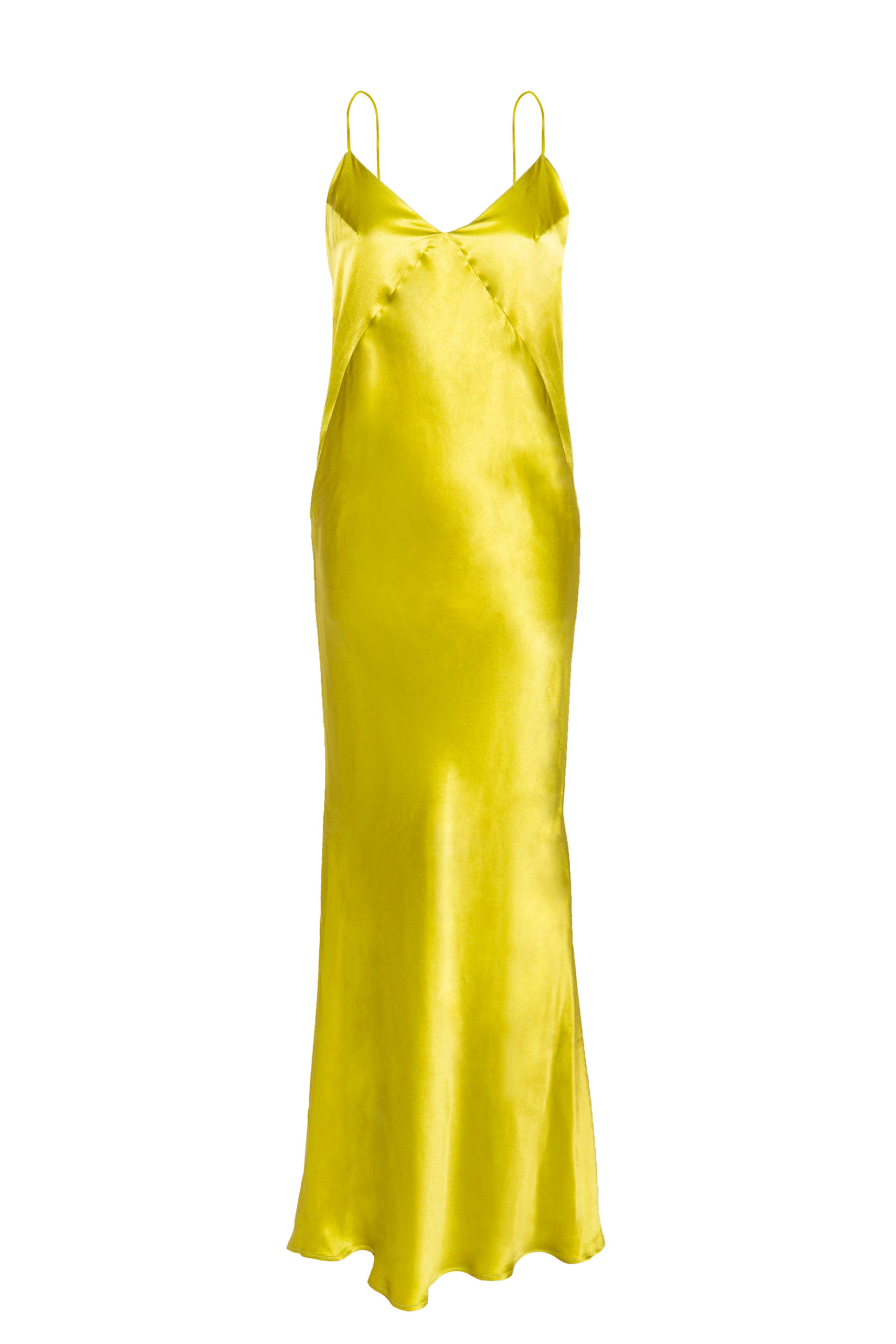 Slipdress yellow natural silk dress