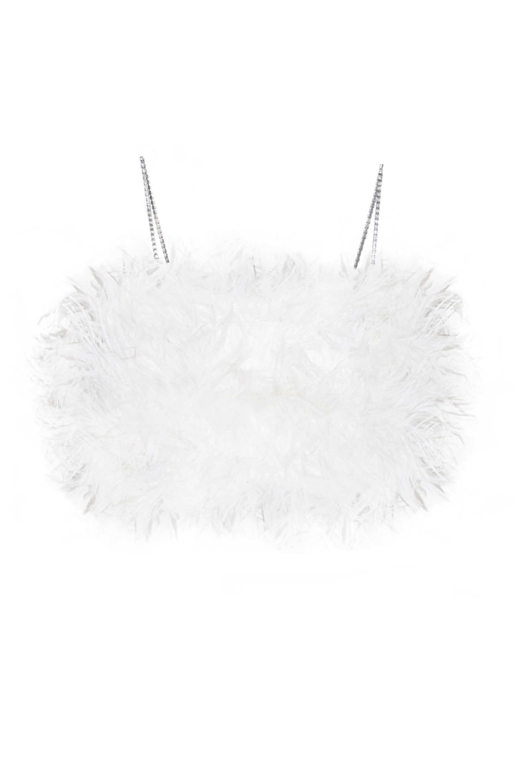 No fear crop top feather white