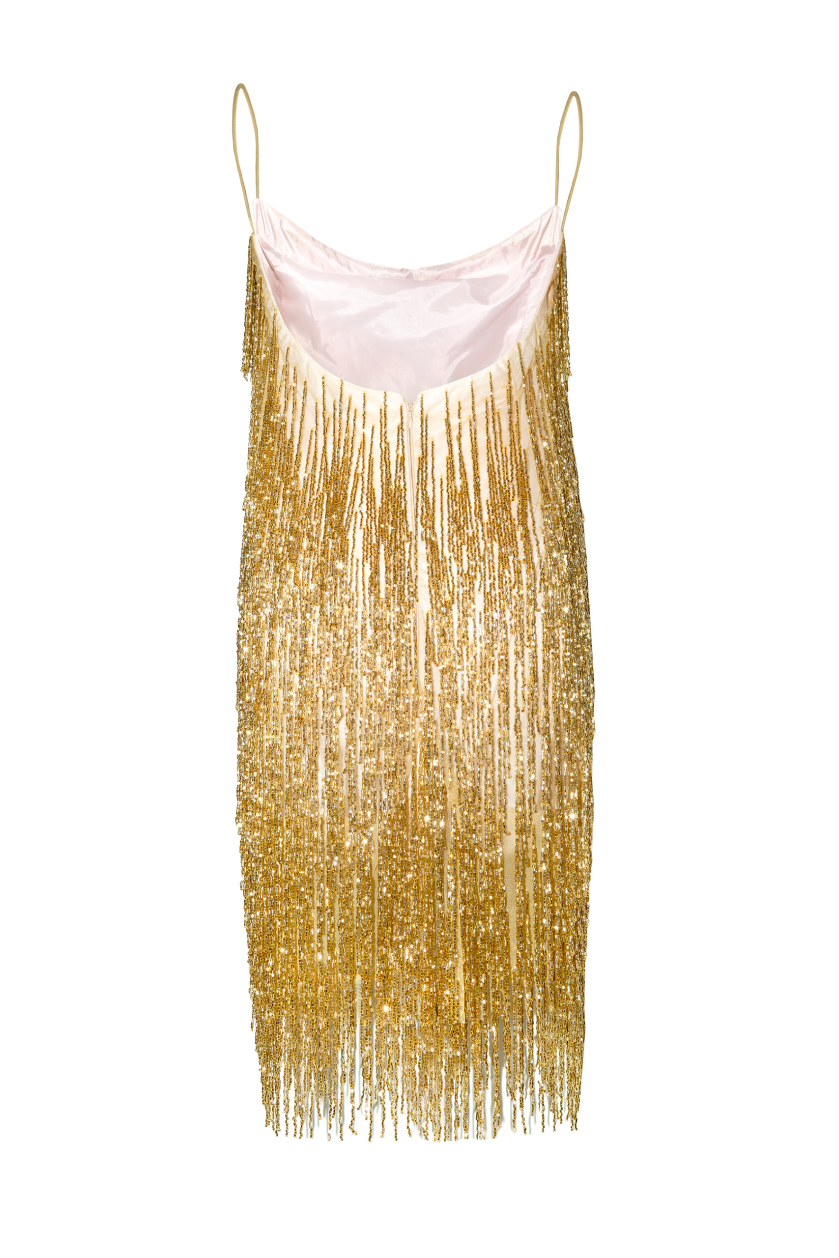 Crystal gold dress back