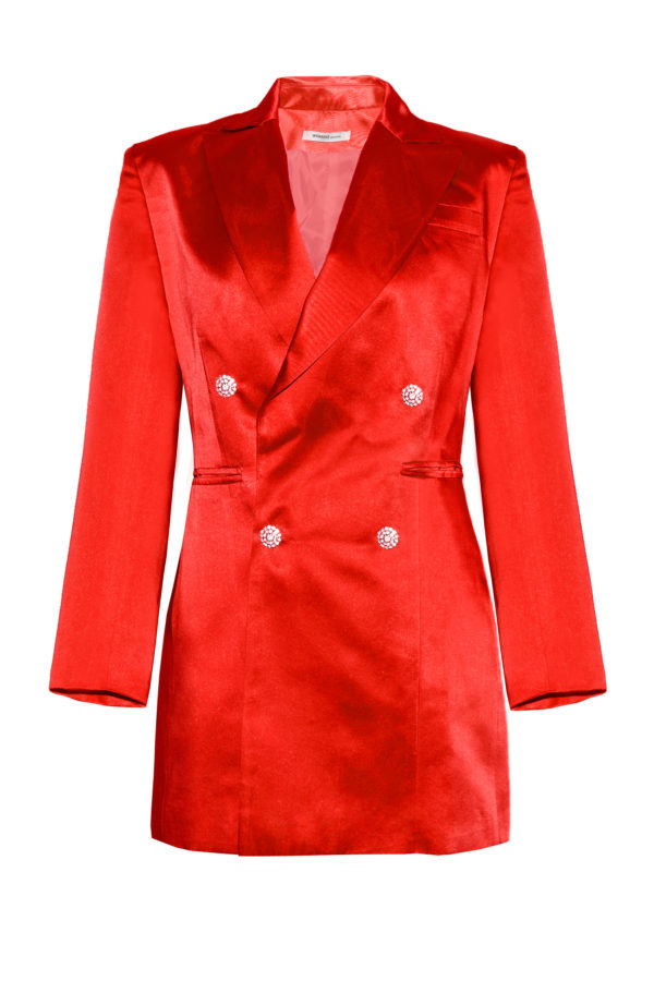 Chaqueta vestido rojo The Tuxedo red blazer smoking