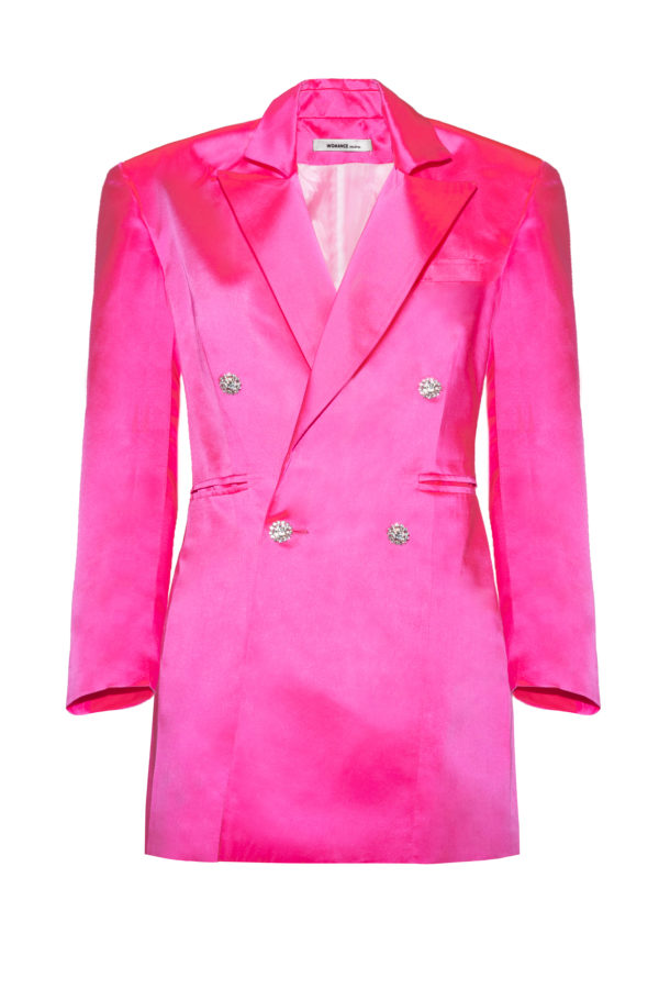 Chaqueta vestido rosa The Tuxedo pink smoking