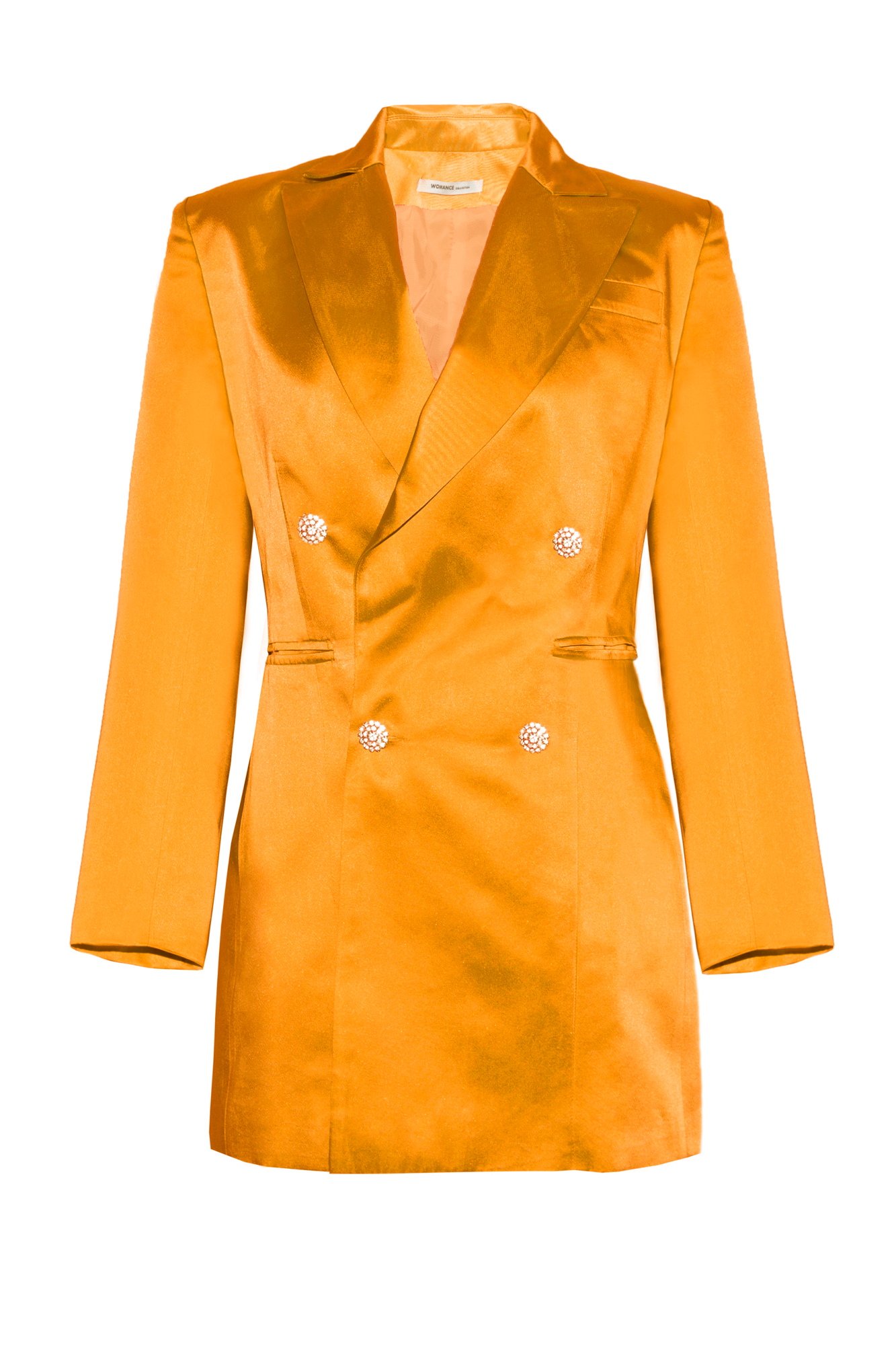 Chaqueta vestido naranja The Tuxedo orange blazer smoking