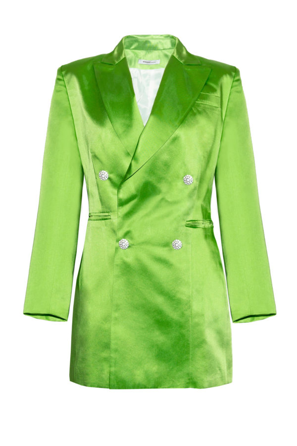 Chaqueta vestido verde The Tuxedo green smoking