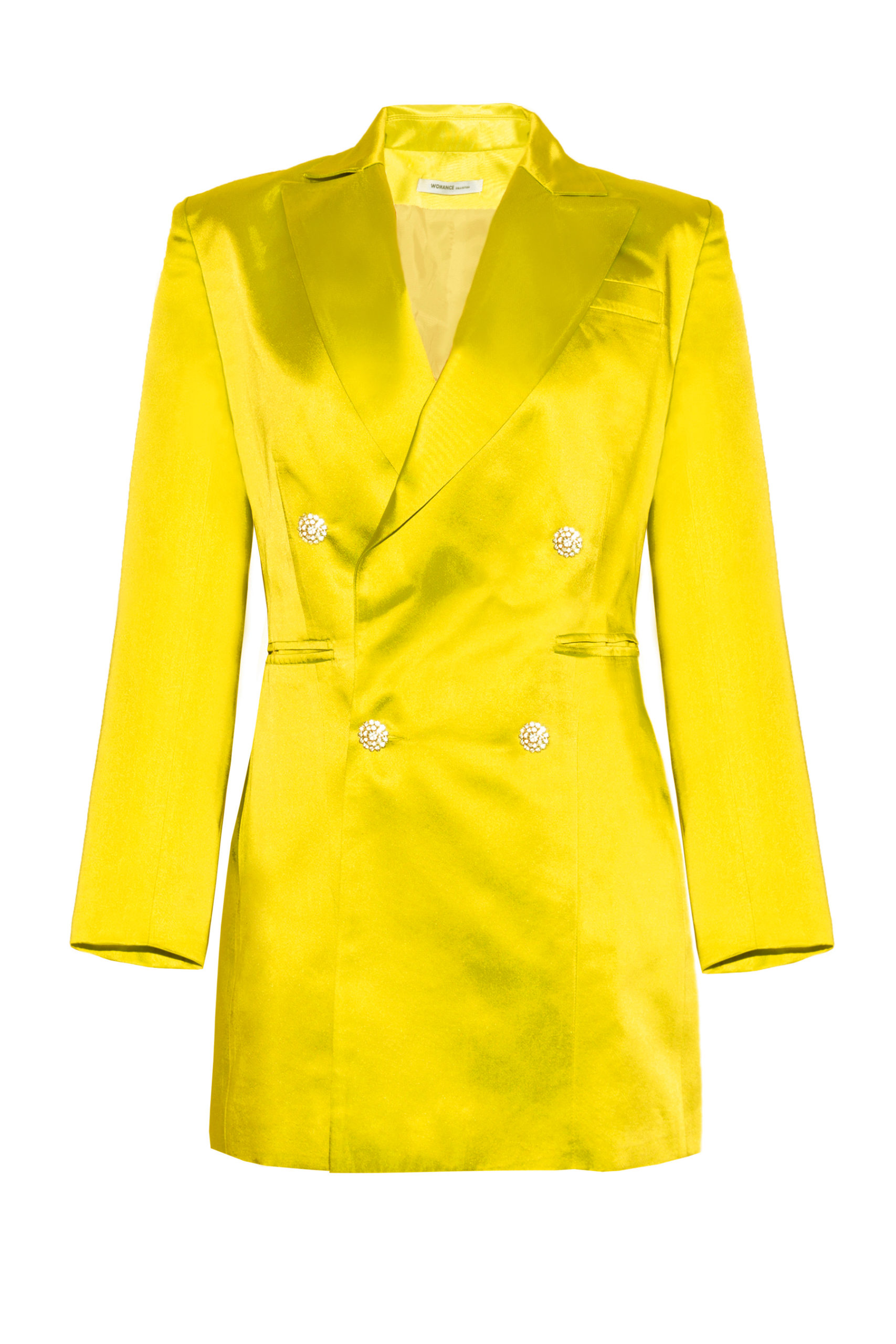 Chaqueta vestido amarilloThe Tuxedo yellow silk smoking
