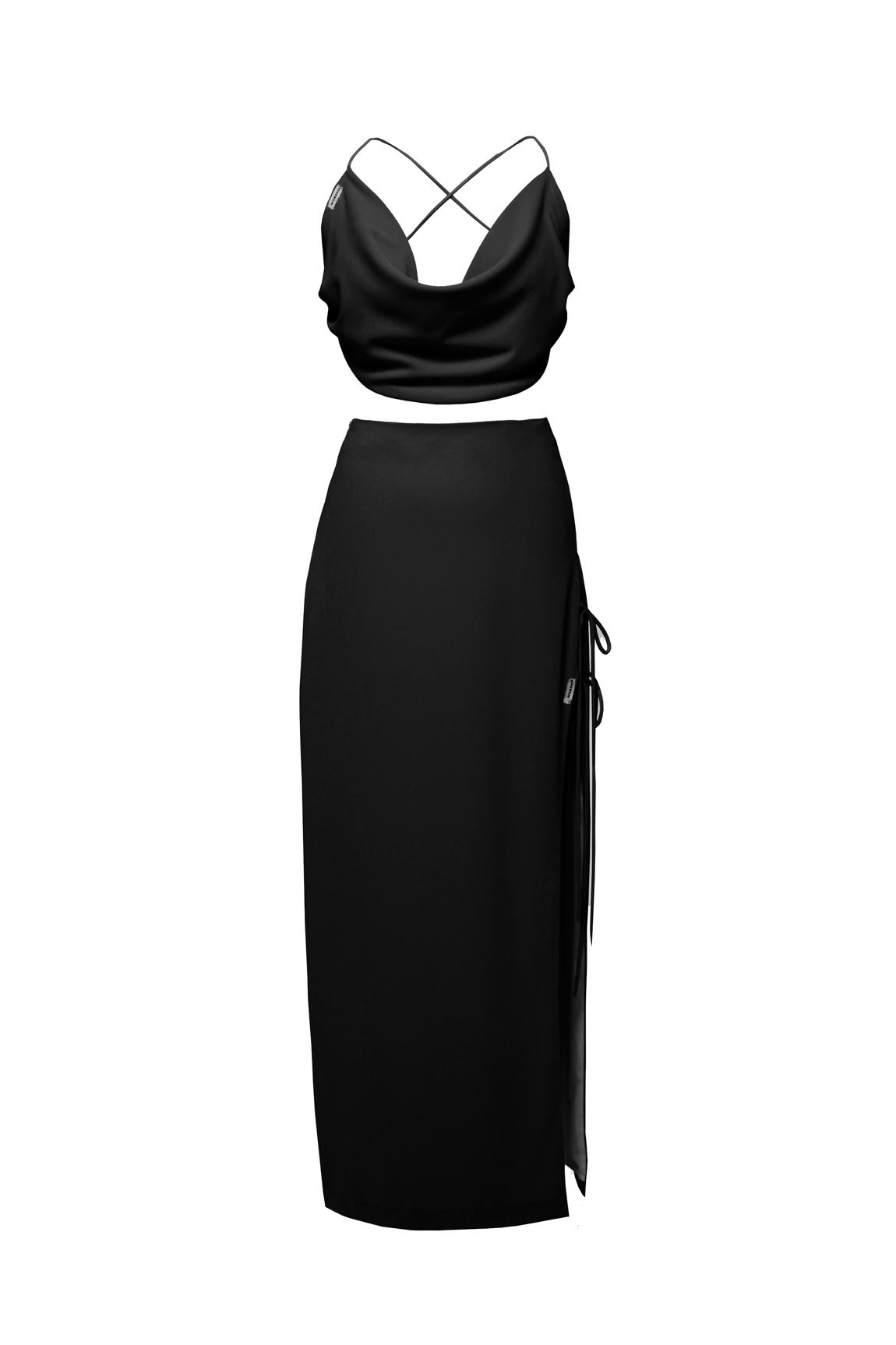 womace-lemon-crop-top-long-skirt-combo-dress-party-black