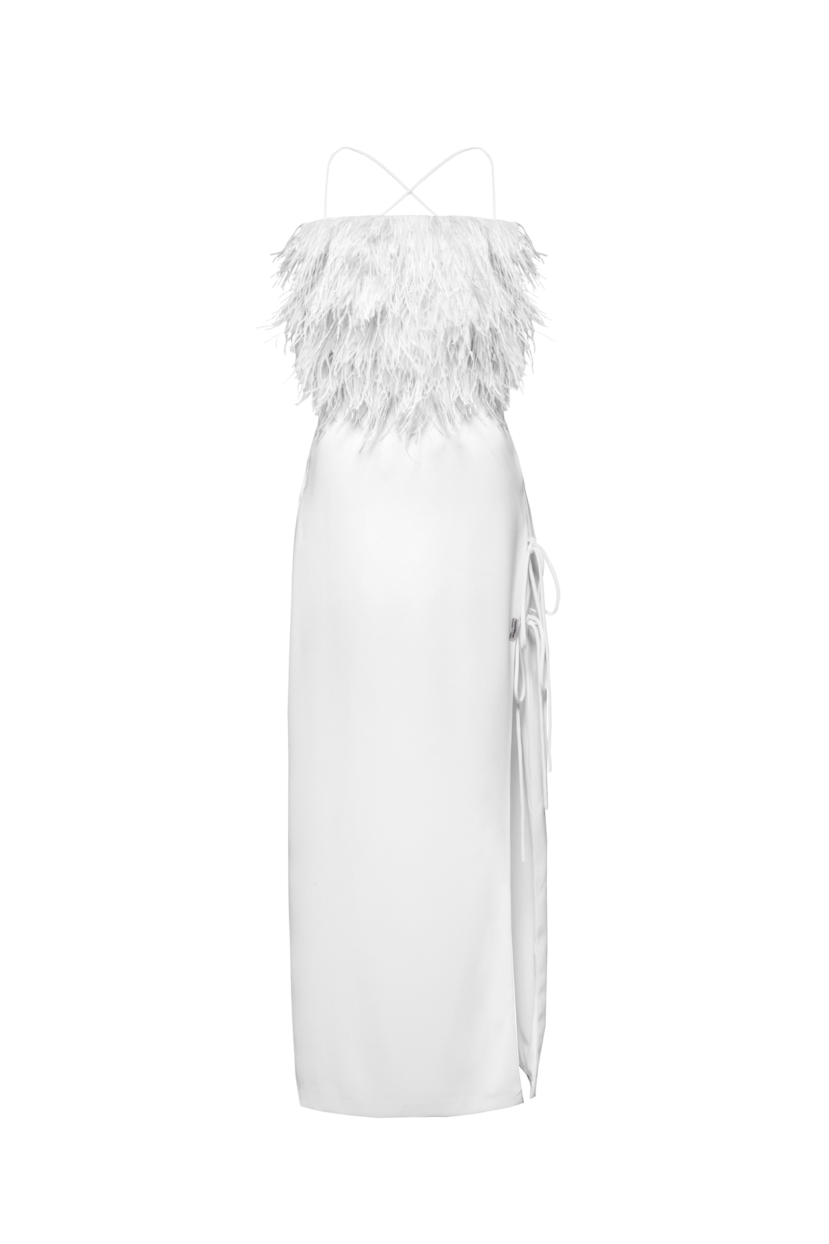 womace-lemon-crop-top-long-skirt-combo-dress-party-feathers-white