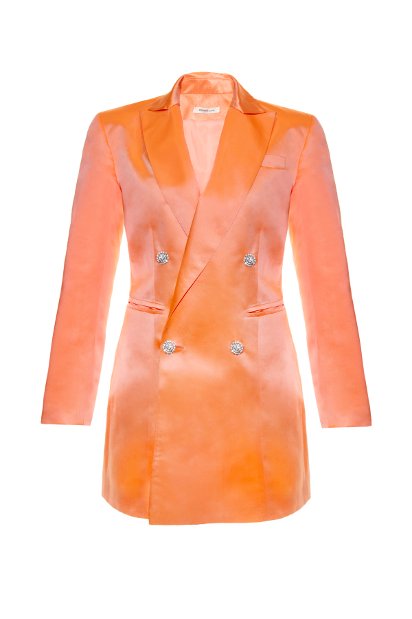 Chaqueta vestido peach Tuxedo peach silk smoking